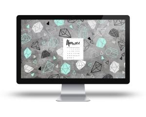 Blink tapeta marzec kalendarz pulpit