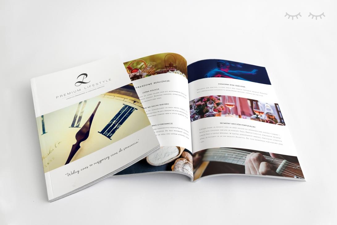katalog blinkblink projekt graficzny premium lifestyle