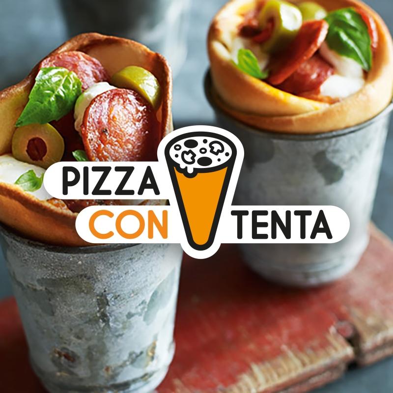 pizza contenta logo blinkblink projekty graficzne