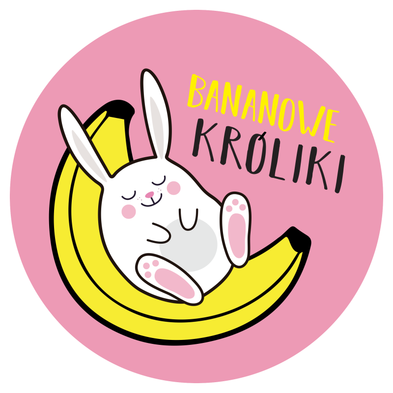 bananowe króliki logo blinkblink projekty graficzne